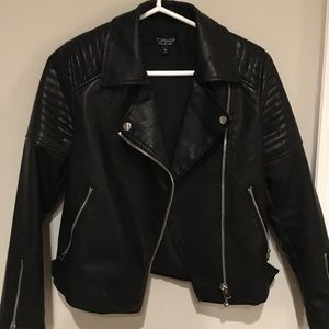 Topshop Faux Leather Jacket (Size 4)